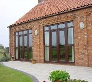 Many sizing options for uPVC bi-fold doors