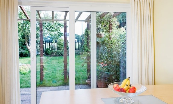 Double-glazed energy saving safety glass sliding door